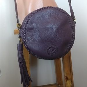 orYANY purple leather crossbody bag